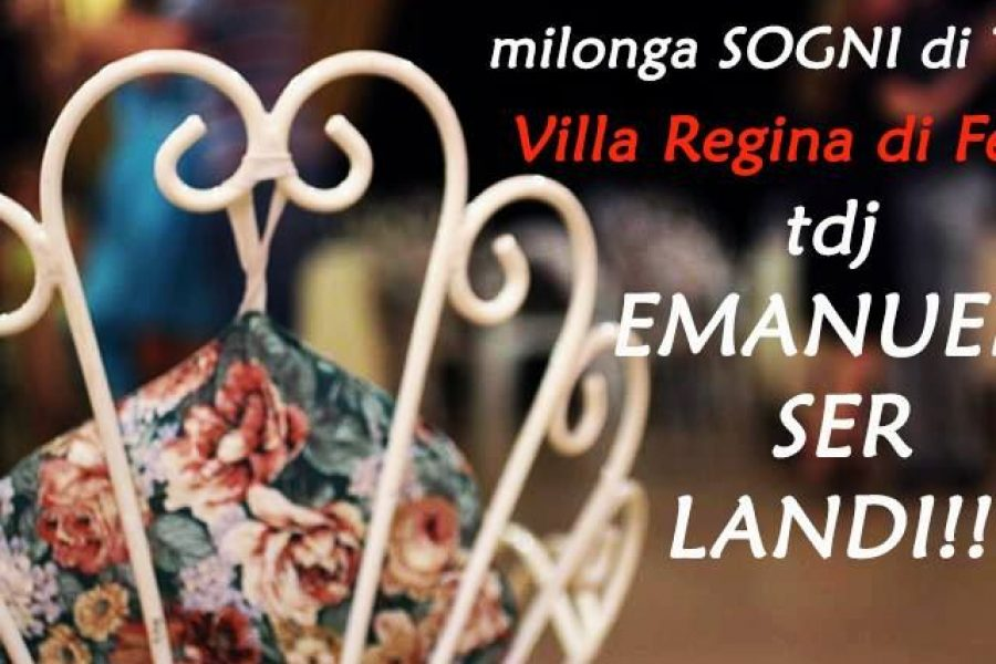 Milonga Sogni di Tango – in consolle Tdj Emanuele Ser Landi