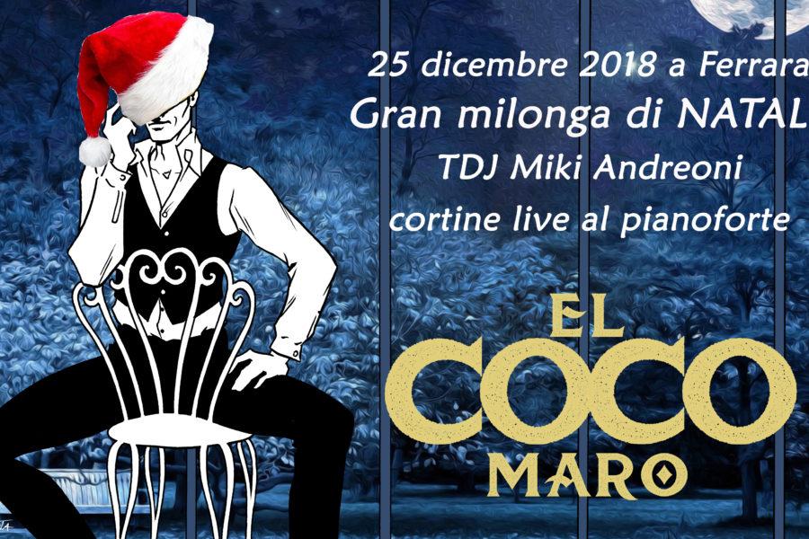 Grand milonga di Natale – tdj Miki Andreoni con cortine live al pianoforte!!!