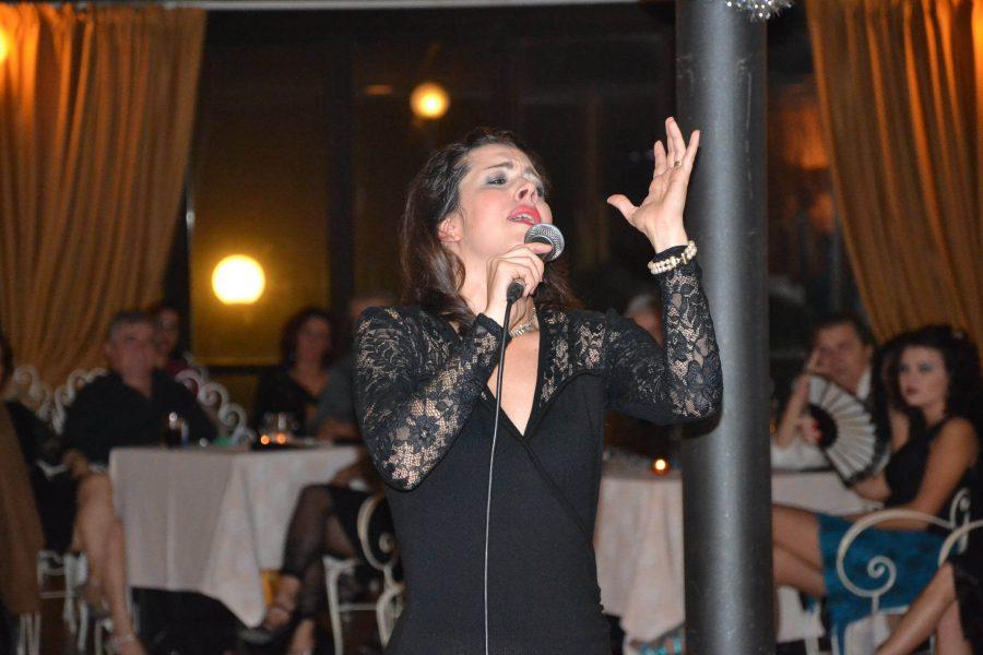 Milonga del 10 dicembre 2016, con la cantante uruguaiana Ana Karina Rossi