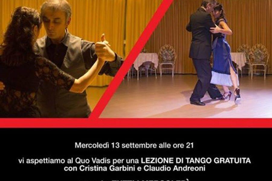 mercoledì 13 settembre, ore 21 al Quo Vadis di Ferrara, LEZIONE GRATUITA  aperta a tutti coloro che vogliono immergersi nella magica atmosfera del ballo più bello di sembre!